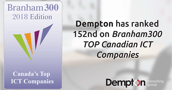 Interfacing's sister company ranked 152nd on TOP Canadian Company