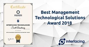 Interfacing Wins Best Management Technological Solutions Award