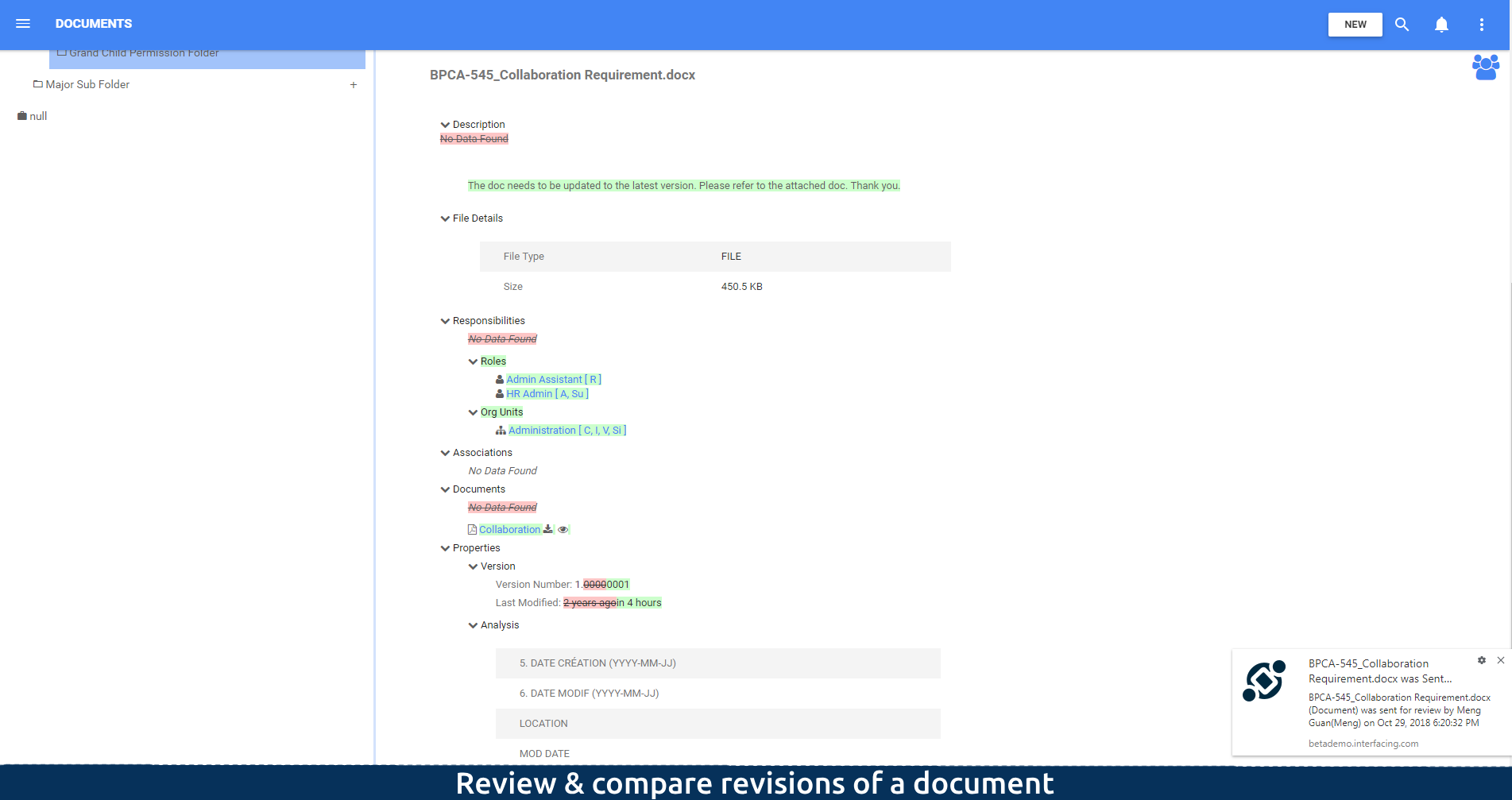 Review & compare revisions