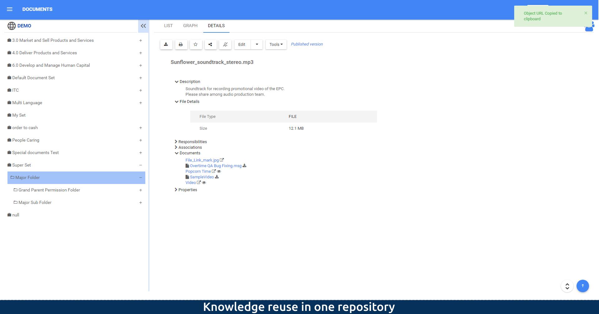 Knowledge reuse